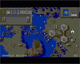 In game image of Full Metal Planete on the Commodore Amiga.