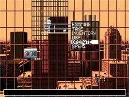 In game image of Future Wars on the Commodore Amiga.