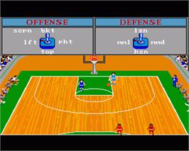 In game image of GBA Championship Basketball: Two-on-Two on the Commodore Amiga.