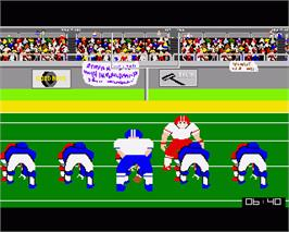 In game image of GFL Championship Football on the Commodore Amiga.