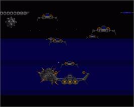 In game image of Galactic Conqueror on the Commodore Amiga.