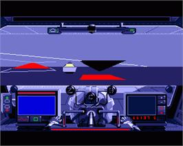 In game image of Galactic Empire on the Commodore Amiga.