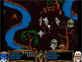 In game image of Gauntlet III on the Commodore Amiga.