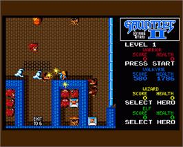 In game image of Gauntlet II on the Commodore Amiga.