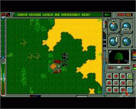 In game image of Global Effect on the Commodore Amiga.