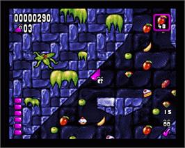 In game image of Globdule on the Commodore Amiga.