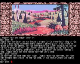 In game image of Gnome Ranger on the Commodore Amiga.