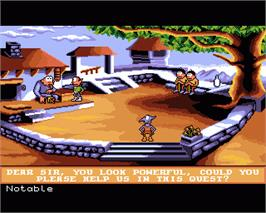In game image of Gobliins 2: The Prince Buffoon on the Commodore Amiga.
