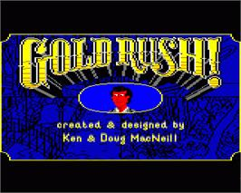 In game image of Gold Rush on the Commodore Amiga.