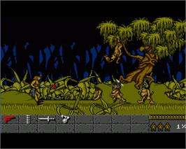 In game image of Gold of the Aztecs on the Commodore Amiga.
