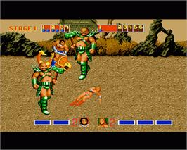 In game image of Golden Axe on the Commodore Amiga.