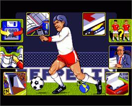 In game image of Graeme Souness Soccer Manager on the Commodore Amiga.