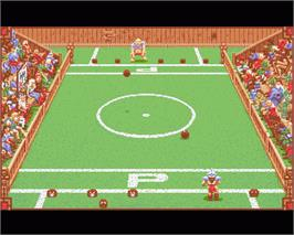 In game image of Grand Monster Slam on the Commodore Amiga.
