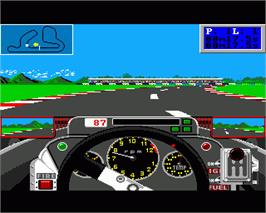In game image of Grand Prix Circuit on the Commodore Amiga.