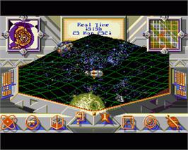 In game image of Gravity on the Commodore Amiga.