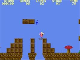 In game image of Great Giana Sisters on the Commodore Amiga.