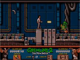 In game image of Gremlins 2: The New Batch on the Commodore Amiga.