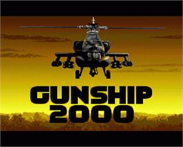 In game image of Gunship 2000 on the Commodore Amiga.