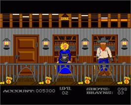 In game image of Gunshoot on the Commodore Amiga.