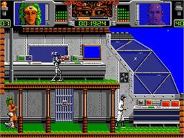 In game image of Hammerfist on the Commodore Amiga.