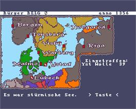 In game image of Hanse: Die Expedition on the Commodore Amiga.