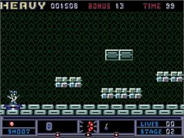 In game image of Hard 'n Heavy on the Commodore Amiga.