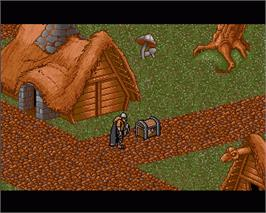 In game image of Heimdall on the Commodore Amiga.