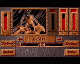 In game image of Heimdall 2: Into the Hall of Worlds on the Commodore Amiga.