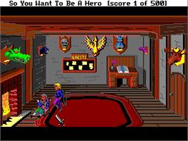 In game image of Hero's Quest: So You Want To Be A Hero on the Commodore Amiga.