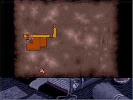 In game image of Hero Quest: Return of the Witch Lord on the Commodore Amiga.