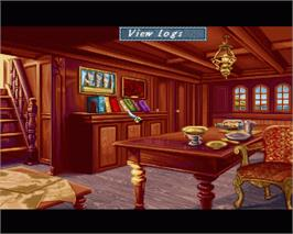 In game image of High Seas Trader on the Commodore Amiga.