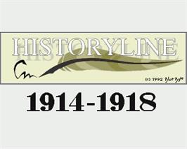 In game image of Historyline: 1914 - 1918 on the Commodore Amiga.