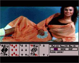 In game image of Hollywood Poker on the Commodore Amiga.