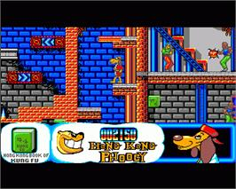 In game image of Hong Kong Phooey: No.1 Super Guy on the Commodore Amiga.