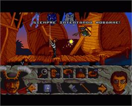 In game image of Hook on the Commodore Amiga.
