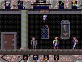 In game image of Horror Zombies from the Crypt on the Commodore Amiga.