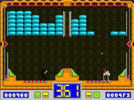 In game image of Hot Shot on the Commodore Amiga.
