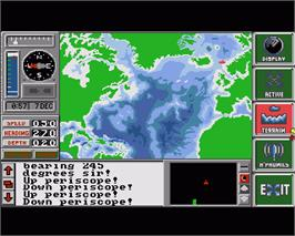 In game image of Hunt for Red October on the Commodore Amiga.