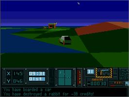 In game image of Hunter on the Commodore Amiga.