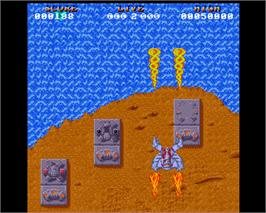 In game image of Hybris on the Commodore Amiga.