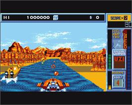 In game image of Hydra on the Commodore Amiga.