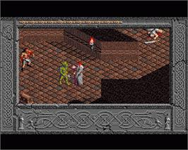 In game image of Immortal on the Commodore Amiga.