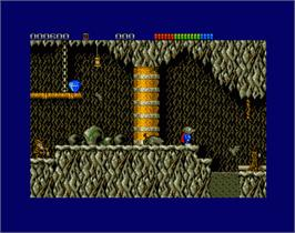 In game image of Impossamole on the Commodore Amiga.