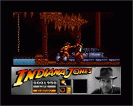 In game image of Indiana Jones and the Last Crusade: The Action Game on the Commodore Amiga.