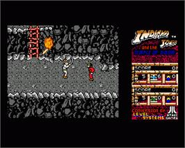 In game image of Indiana Jones and the Temple of Doom on the Commodore Amiga.
