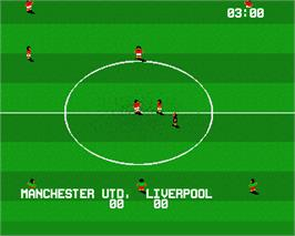 In game image of International Soccer on the Commodore Amiga.