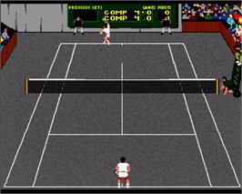 In game image of International Tennis on the Commodore Amiga.