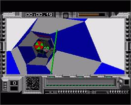 In game image of Interphase on the Commodore Amiga.