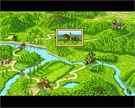In game image of Iron Lord on the Commodore Amiga.