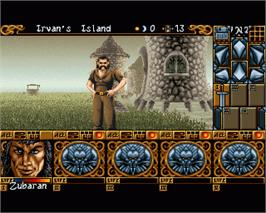 In game image of Ishar 2: Messengers of Doom on the Commodore Amiga.